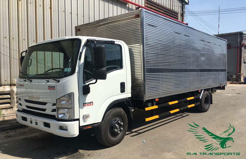 Kích thước xe tải 8 tấn thùng kín