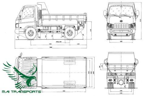 Kích thước xe tải